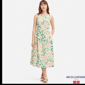NWT INES DE LA FRESSANGE PrintedSleeveless Dress!